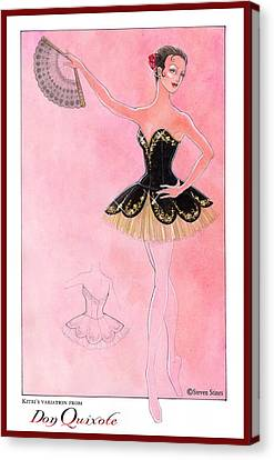Don Quixote Tutu Canvas Print
