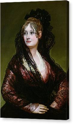 Dona Isabel De Porcel Canvas Print by Francisco Jose de Goya y Lucientes
