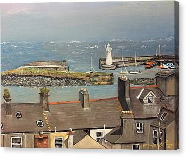 Canvas Print featuring the painting Donaghadee Ireland Irish Sea by Brenda Brown