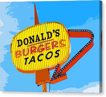 Donald's Burgers Canvas Print