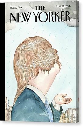 Hillary Clinton Canvas Print - Donald's Rainy Days by Barry Blitt