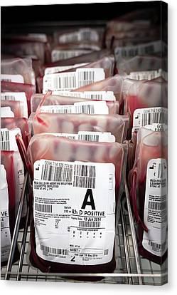 Donates Canvas Print - Donated Blood by Aberration Films Ltd