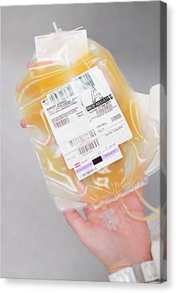 Donates Canvas Print - Donated Blood Platelets by Aberration Films Ltd