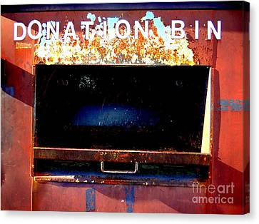 Donation Bin Canvas Print by Ed Weidman