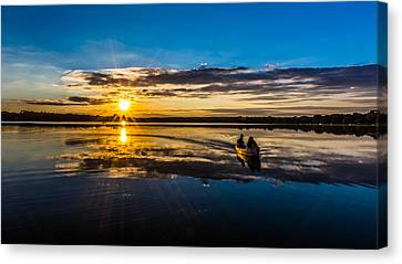 Done Fishing Canvas Print by Randy Scherkenbach