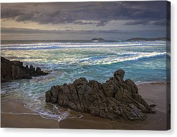 Canvas Print featuring the photograph Doninos Beach Ferrol Galicia Spain by Pablo Avanzini