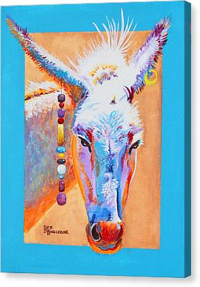 Jack's Other Girl - Burro - Donkey Canvas Print by Deb  Harclerode