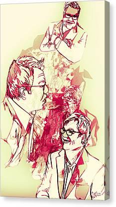 Canvas Print featuring the digital art Donnie by Matt Lindley
