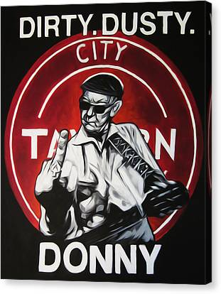 Donny Cash Canvas Print by Steve Hunter