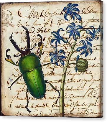 Ephemera Canvas Print - Don't Bug Me by Creartful Dodger