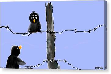 Don't Cross My Fence Canvas Print by Jessica Wright