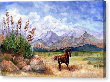 Foothills Canvas Print - Don't Fence Me In by Marilyn Smith