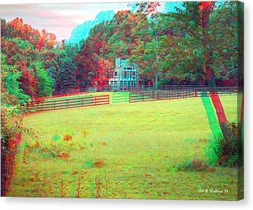Don't Fence Me In - Use Red_cyan 3d Glasses Canvas Print by Brian Wallace
