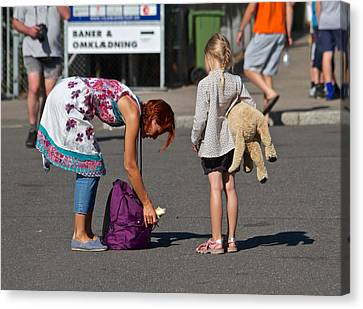 Street Shot Canvas Print - Don't Go Anywhere Without A Banana by Odd Jeppesen