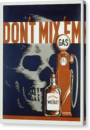 Don't Mix'em Canvas Print by American Classic Art