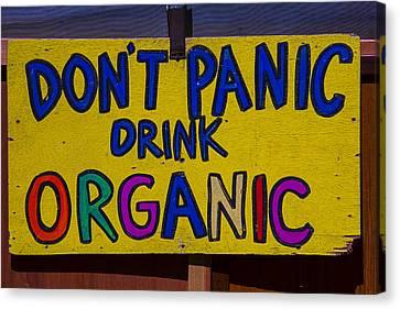 Don't Panic Sign Canvas Print