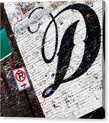 Don't Park Canvas Print by Leon Hollins III