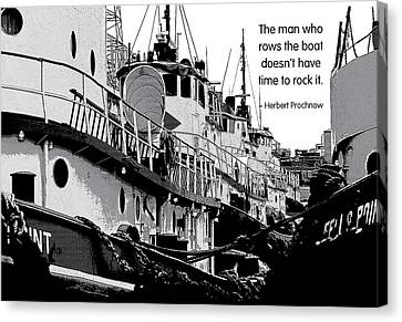 Don't Rock The Boat Canvas Print by Mike Flynn