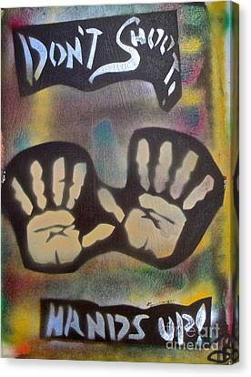Don't Shoot Hands Up Canvas Print by Tony B Conscious