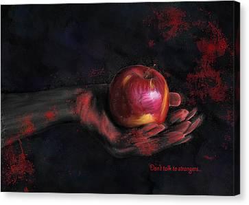 Don't Talk To Strangers Canvas Print by Hazel Billingsley