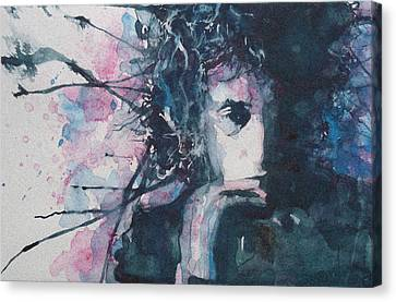 Bob Dylan Canvas Print - Don't Think Twice It's Alright by Paul Lovering