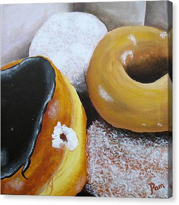 Donuts 2 Canvas Print by Pamela Burger