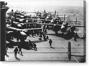 Doolittle's Raider Planes Canvas Print by Underwood Archives