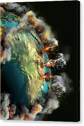 Doomsday Volcanoes Canvas Print