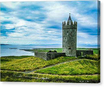 Doonagore Castle In Ireland's County Clare Canvas Print by James Truett