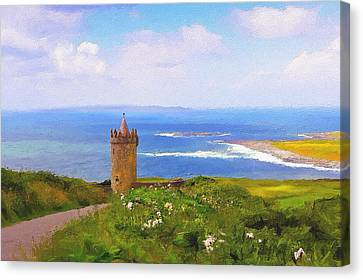 Doonagore Castle Canvas Print by Michael Walsh