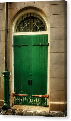 Door And Pipe Canvas Print by Chrystal Mimbs