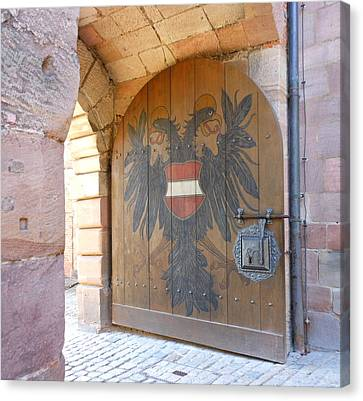Canvas Print featuring the photograph Door At Nuremberg by Kay Gilley