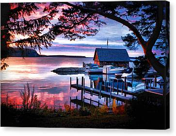 Door County Anderson Dock Sunset Canvas Print