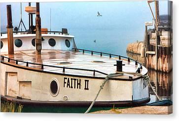 Door County Gills Rock Faith II Fishing Trawler Canvas Print by Christopher Arndt