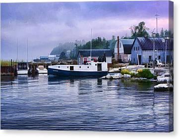 Door County Gills Rock Fishing Village Canvas Print