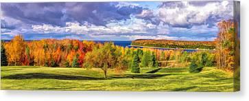 Door County Grand View Scenic Overlook Panorama Canvas Print by Christopher Arndt