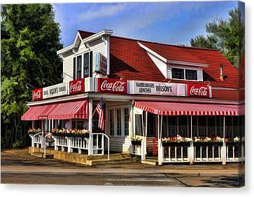 Door County Wilson's Ice Cream Store Canvas Print