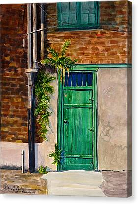 Door In New Orleans Canvas Print by Dan Redmon