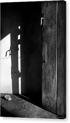 Door In Silhouette  Canvas Print