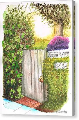 Meir Studio Door In Melrose Place, Los Angeles, California Canvas Print