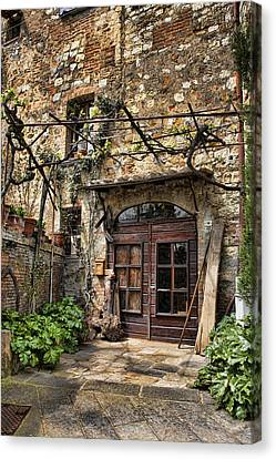 Canvas Print featuring the photograph Door Montepulciano Italy by Hugh Smith