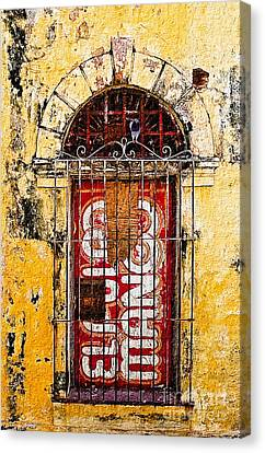Canvas Print featuring the photograph Door Series - Yellow by Susan Parish