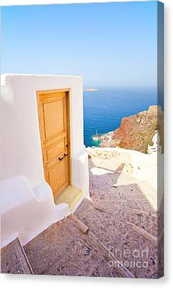 Door Suddenly Canvas Print by Aiolos Greek Collections