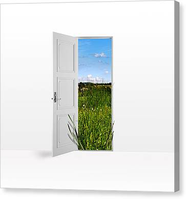 Door To Nature Canvas Print by Aged Pixel