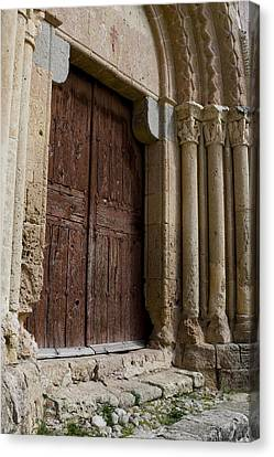Door To The Templar Church Canvas Print by Lorraine Devon Wilke