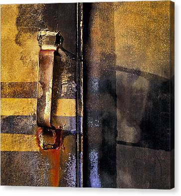 Doors And Handle Canvas Print