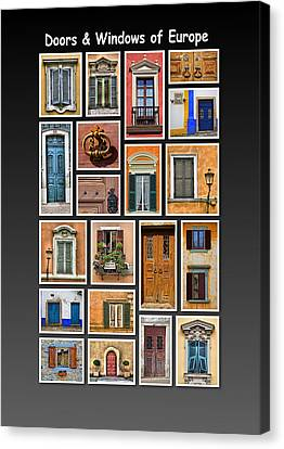 Doors And Windows Of Europe Canvas Print by David Letts