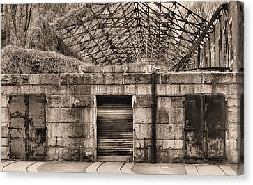 Doors Bw Canvas Print by JC Findley