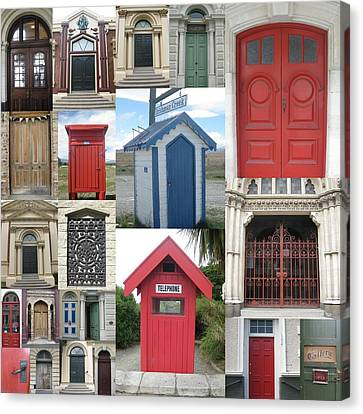 doors in New Zealand Canvas Print by Cathy Jacobs