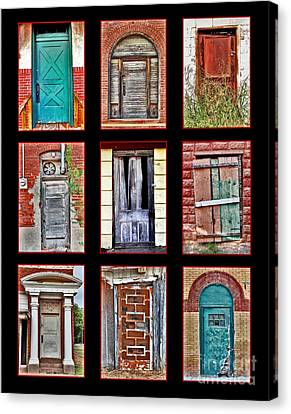 Doors Of Distinction Canvas Print by Pattie Calfy